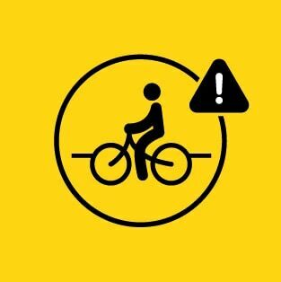 Vulnerable Road User Auto Emergency Braking Icon